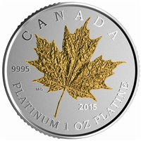 2015 Canada $300 Maple Leaf Forever Platinum (No Tax) sleeve has blemish