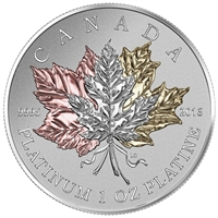 2016 Canada $300 Maple Leaf Forever Pure Platinum Coin (TAX Exempt)