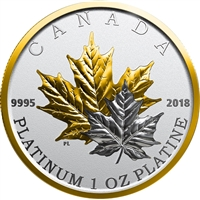 2018 Canada $300 Maple Leaf Forever Platinum Coin (TAX Exempt)