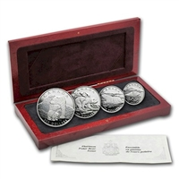 1990 Canada Polar Bear Platinum 4-coin RCM Issue Set (No Tax)