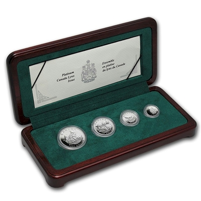 1995 Canada Lynx Platinum 4 Coin Set - 1st set in series (TAX Exempt)