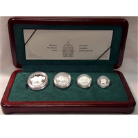1997 Canada Wood Bison Platinum 4 Coin Set (No Tax) scratched capsules