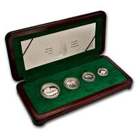 1998 Canada Grey Wolf Platinum 4 Coin Set - #4 (TAX Exempt)