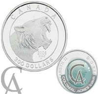 2008 Canada $300 Scimitar Cat Platinum Coin (TAX Exempt)