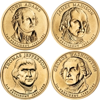 2007 USA Presidential Dollar 8-Coin Set - Both P&D Mints