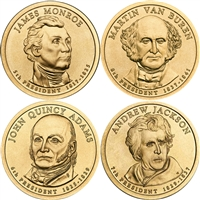 2008 USA Presidential Dollar 8-Coin Set - Both P&D Mints