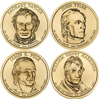 2009 USA Presidential Dollar 8-Coin Set - Both P&D Mints
