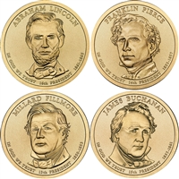 2010 USA Presidential Dollar 8-Coin Set - Both P&D Mints