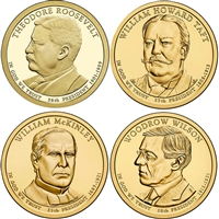 2013 USA Presidential Dollar 8-Coin Set - Both P&D Mints