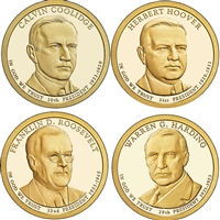 2014 USA Presidential Dollar 8-Coin Set - Both P&D Mints