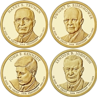 2015 USA Presidential Dollar 8-Coin Set - Both P&D Mints
