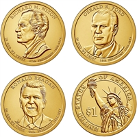 2016 USA Presidential Dollar 6-Coin Set - Both P&D Mints