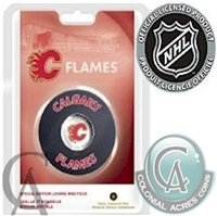 2008 Canada Calgary Flames NHL $1 Coin Puck Set.