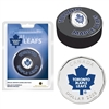 2008 Canada Toronto Maple Leafs NHL $1 Coin Puck Set - Scuffed