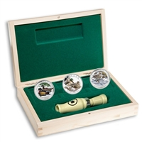 RDC 2013-2014 $10 Ducks of Canada 3-coin Deluxe Box Set & Caller (No Tax) - Impaired