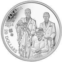 RDC 2014 Canada $20 Royal Generations Fine Silver (No Tax) outer sleeve worn
