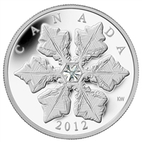 RDC 2012 Canada $20 Holiday Snowflake with Swarovski Crystal (No Tax) Scratched Capsule