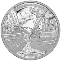 RDC 2013 Canada $50 HMS Shannon & USS Chesapeake 5oz. Silver (No Tax) Scratched