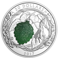RDC 2017 Canada $20 Brilliant Birch Leaves with Drusy Stone (No Tax) - Toned