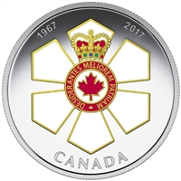 RDC 2017 $20 Canadian Honours - 50th Ann. of the Order of Canada (No Tax) scratched coin
