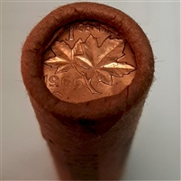 1966 Canada 1-cent Original Roll of 50 pcs -