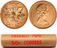 1977 Canada 1-Cent Original Roll of 50 pcs