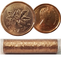 1987 Canada 1-cent Original Roll of 50pcs