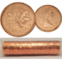 1988 Canada 1-cent Original Roll of 50pcs
