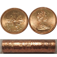 1989 Canada 1-cent Original Roll of 50 pcs