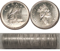 1990 Canada 10-cent Original Roll of 50 pcs