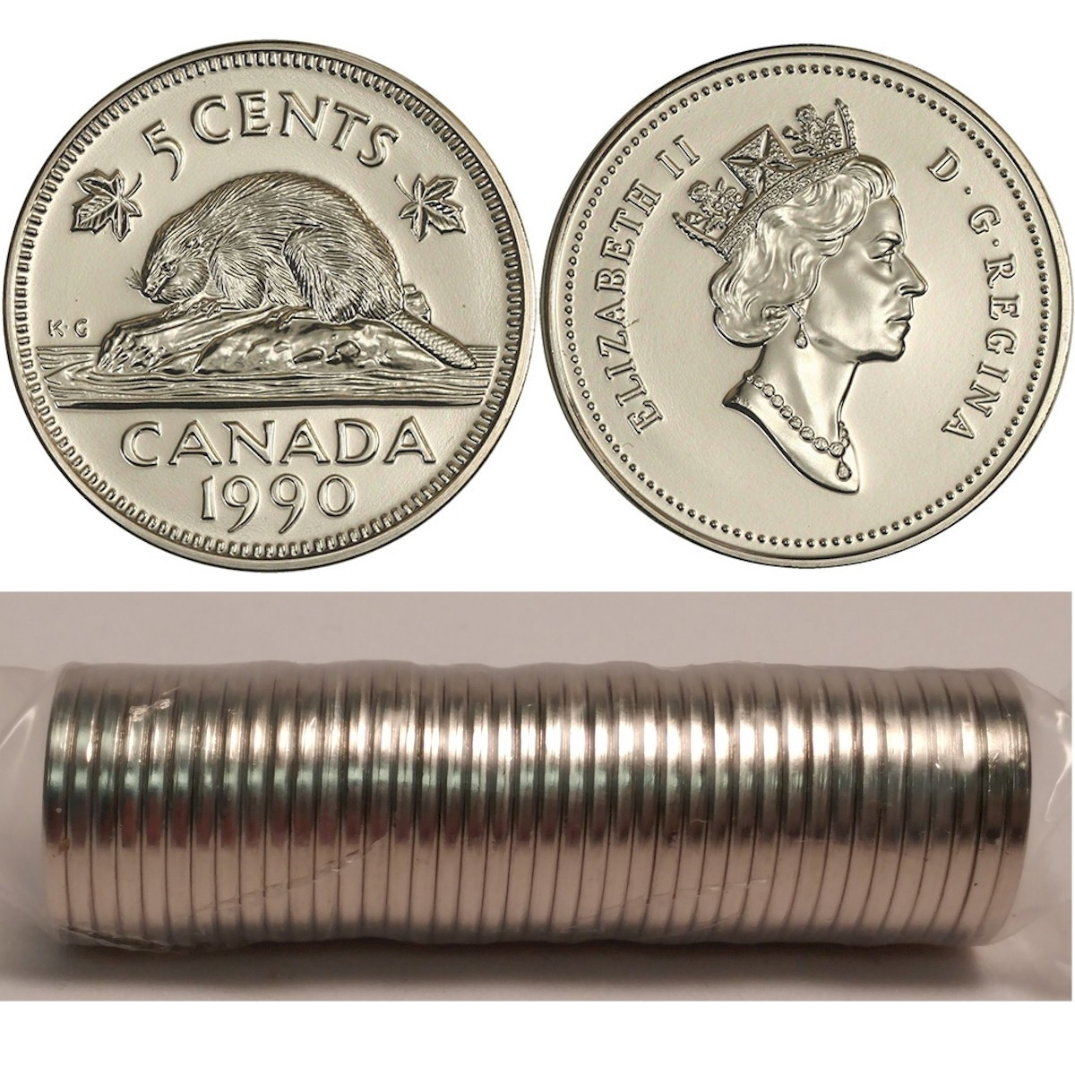 Canada 1992 Original Mint Wrapped Roll of Fifty Pennies!!