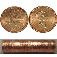 1991 Canada 1-cent Original Roll of 50 pcs