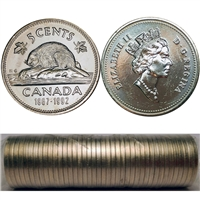1992 Canada 5-cents Original Roll of 40 pcs