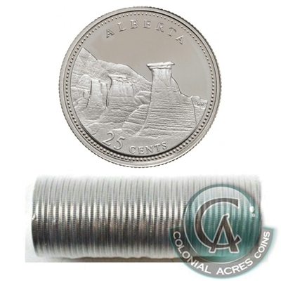 1992 Alberta Canada 25-Cents Original Roll of 40 pcs.