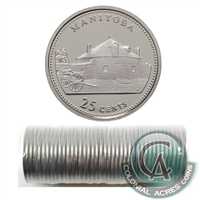 1992 Manitoba Canada 25-Cents Original Roll of 40 pcs.