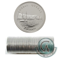 1992 Quebec Canada 25-Cents Original Roll of 40 pcs.