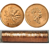 1993 Canada 1-cent Original Roll of 50 pcs