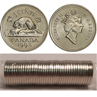 1993 Canada 5-cent Original Roll of 40 pcs.
