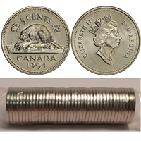 1994 Canada 5-cent Original Roll of 40 pcs