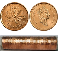 1994 Canada 1-cent Original Roll of 50 pcs