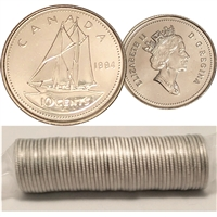 1994 Canada 10-cent Original Roll of 50pcs.
