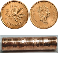 1995 Canada 1-cent Original Roll for 50 pcs