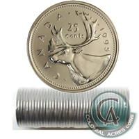 1995 Canada 25-Cents Original Roll of 40 pcs