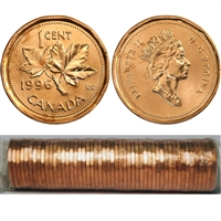 1996 Canada 1-cent Original Roll for 50 pcs