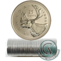 1996 Canada 25-cent Original Roll of 40 pcs.