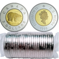 1996 Canada Two Dollar Original Roll of 25pcs.