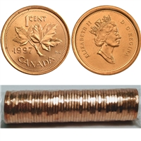 1997 Canada 1-Cent Original Roll of 50pcs