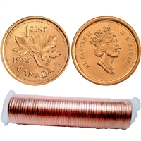 1998 Canada 1-cent Original Roll for 50 pcs