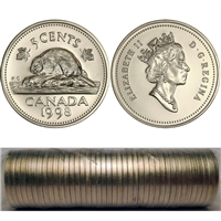 1998 Canada 5-cent Original Roll of 40 pcs