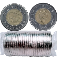 1998 Canada Two Dollar Original Roll of 25pcs